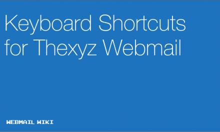 Keyboard Shortcuts for Thexyz Webmail