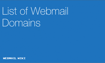 List of Webmail Domains