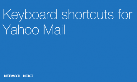 Keyboard shortcuts for Yahoo Mail