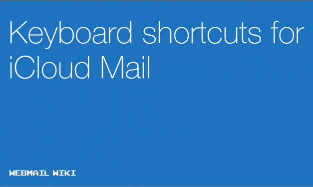 Keyboard shortcuts for iCloud Mail