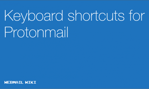 Keyboard shortcuts for Protonmail