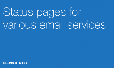 Status pages for various email services