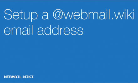 Get a @Webmail.wiki email address