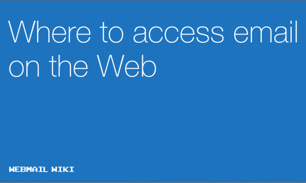 Where to access email on the Web