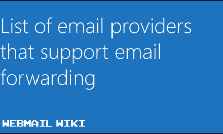 List of email providers that support email forwarding
